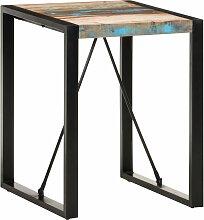 vidaXL Esstisch 60x60x75 cm Recyceltes Massivholz