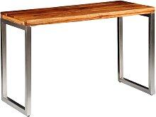 vidaXL Esstisch Schreibtisch Massivholz mit