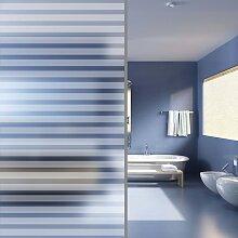 vidaXL Fensterfolie Sichtschutzfolie Streifen