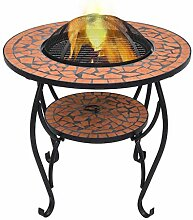 vidaXL Feuerschale Mosaik Feuerstelle Grill