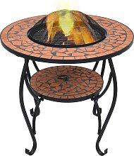 vidaXL Feuerschale Mosaik Terrakotta 68 cm Keramik