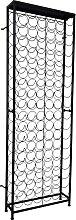 vidaXL Flaschenregal für 108 Flaschen Metall