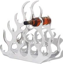 vidaXL Flaschenregal für 11 Flaschen Silbern