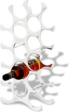 vidaXL Flaschenregal für 15 Flaschen Silbern