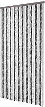 vidaXL Flauschvorhang Türvorhang Insektenschutz Chenille 100 x 220 cm Grauweiß