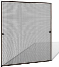 vidaXL Fliegengitter 130x150cm Insektenschutz Fenster Gitter Alu Rahmen Mückengitter