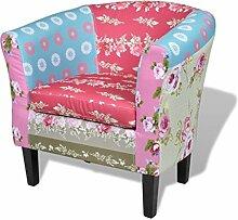 vidaXL Französischer Sessel mit Patchwork-Design