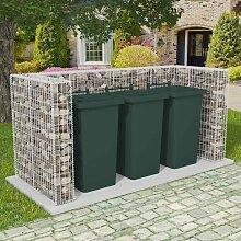 vidaXL Gabionen-Mülltonnenverkleidung für 3