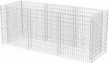 vidaXL Gabionen-Pflanzkorb Stahl 270 x 90 100 cm