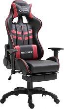 vidaXL Gaming-Stuhl mit Fußstütze Weinrot