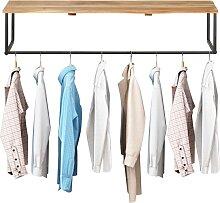 vidaXL Garderobe mit Naturkante 100x35x22 cm