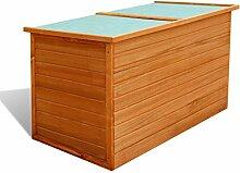 vidaXL Garten Aufbewahrungsbox Auflagenbox Gartentruhe Kiste Holz 126x72x72 cm