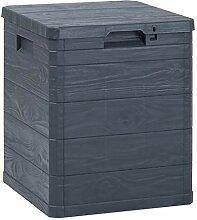 vidaXL Garten Aufbewahrungsbox Holzoptik Kissenbox