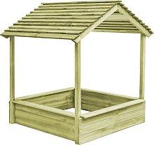 vidaXL Garten-Spielhaus mit Sandkasten