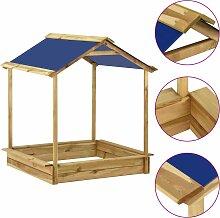 vidaXL Garten-Spielhaus mit Sandkasten 128x120x145
