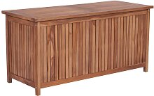 vidaXL Gartenbox 120×50×58 cm Teak Massivholz