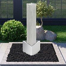vidaXL Gartenbrunnen Silbern 37,7x32,6x110 cm
