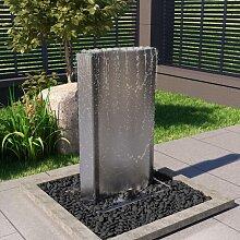 vidaXL Gartenbrunnen Silbern 60,2x37x122,1 cm