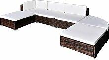 vidaXL Gartenmöbel Set 16-tlg. Poly Rattan Sitzgruppe Lounge Sitzgarnitur Sofa