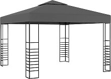 vidaXL Gartenpavillon 3×3 m Anthrazit