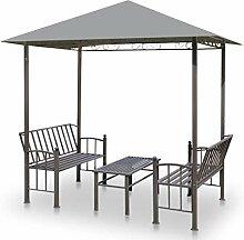 vidaXL Gartenpavillon Sitzbank Gartenbank Tisch
