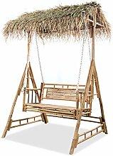 vidaXL Gartenschaukel 2-Sitzer mit Palmblättern