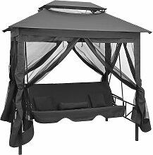 vidaXL Gartenschaukel mit Bettfunktion und Dach