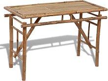 vidaXL Gartentisch Klappbar 120×50×77 cm Bambus