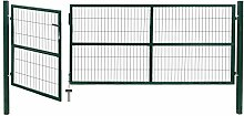 vidaXL Gartentor 350x120cm Stahl Gartenpforte