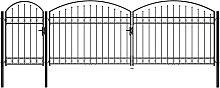 vidaXL Gartentor mit Gewölbter Spitze Stahl 1,75