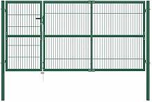 vidaXL Gartentor Stahl 350x140cm Gartenpforte