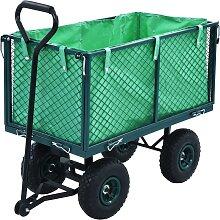 vidaXL Gartenwagen Grün 350 kg