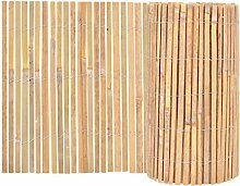 vidaXL Gartenzaun Bambus 1000×50cm Beetumrandung