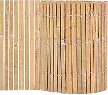 vidaXL Gartenzaun Bambus 1000x30cm Beetumrandung