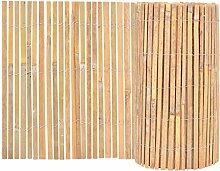 vidaXL Gartenzaun Bambus 1000x50cm Beetumrandung