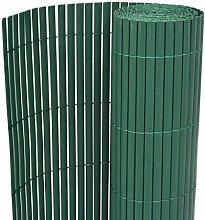 vidaXL Gartenzaun Doppelseitig 90×500 cm Grün