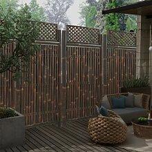 vidaXL Gartenzaun-Element mit Spalier Bambus