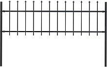 vidaXL Gartenzaun mit Speerspitzen Stahl 1,7 x 0,6