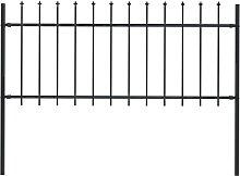 vidaXL Gartenzaun mit Speerspitzen Stahl 1,7 x 0,8