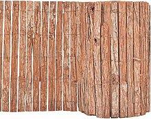 vidaXL Gartenzaun Rinde 1000x50cm Beetumrandung