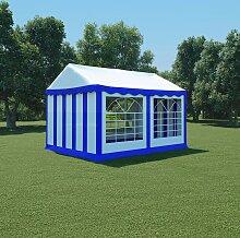 vidaXL Gartenzelt PVC 3x4 m Blau und Weiß