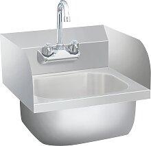 vidaXL Gastro-Handwaschbecken mit Wasserhahn