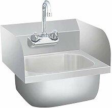 vidaXL Gastro Handwaschbecken mit Wasserhahn