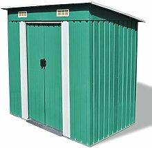 vidaXL Gerätehaus Metall Grün Geräteschuppen