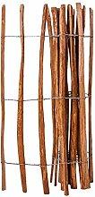 vidaXL Haselnuss Holz Staketenzaun 120x250 cm