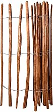 vidaXL Haselnuss Holz Staketenzaun 150x250 cm