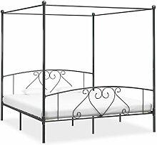 vidaXL Himmelbett Bett Bettgestell Doppelbett