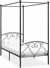 vidaXL Himmelbett Bett Bettgestell Einzelbett