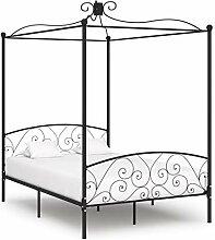 vidaXL Himmelbett Bettgestell Bett Doppelbett