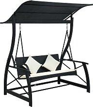 vidaXL Hollywoodschaukel 3-Sitzer mit Dach Poly